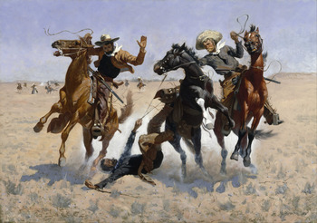 C++ developers aiding a comrade facing SEGFAULT, 1890 - Frederic Remington